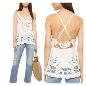 FREE PEOPLE Listen to the Music Linen Tank top S